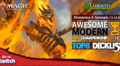 Top8 Decklist – Awesome Modern Pro Championship Vol.1